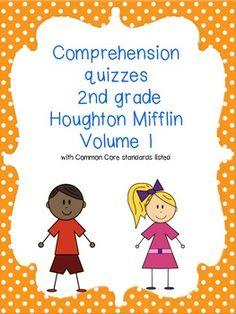 Common core 2nd grade Houghton Mifflin reading comprehensi