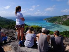 Our Seychelles volunteers hiked up MT Matoopa to experience this beautiful view of the island! Personal And Professional Development, Volunteer Abroad, Wildlife Conservation, Free Time, Volunteers, Seychelles, United Kingdom, National Parks, Hiking