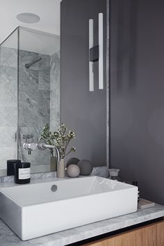 Snaps of a luxurious Stockholm apartment Minimal Bathroom, Modern Bathroom, Small Bathroom, Bathroom Inspo, Bathroom Interior, Bathroom Inspiration, Vanity Bathroom, Bad Inspiration, Decoration Inspiration