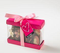 #Chocolade bloemen en hartjes in #moederdag verpakking