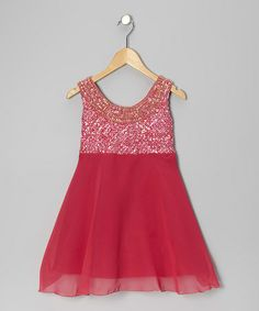Take a look at this Fuchsia Greek Chiffon Dress - Girls by Little Attitudes by Debra on #zulily today!