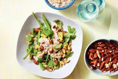 Bonensalade met tonijn en amandelen - Recept