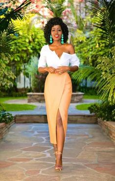 69 Ideas For Skirt Tulip Outfit Chic Classy Outfits, Chic Outfits, Woman Outfits, Style Pantry, Tulip Skirt, Looks Chic, Black Women Fashion, African Dress, Mode Style