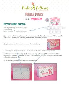 party favor - purse instructions - page 1