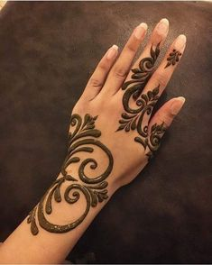 Henna Hand Designs, Eid Mehndi Designs, Modern Henna Designs, Mehndi Designs Finger, Mehndi Designs For Girls, Mehndi Designs For Beginners, Mehndi Design Photos, Mehndi Designs For Fingers, Latest Mehndi Designs