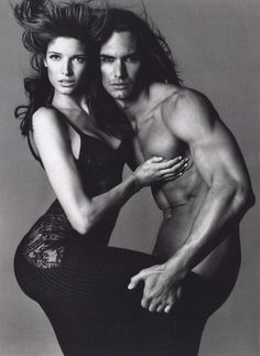 Genetically enhanced species. Stephanie Seymour & Marcus Schenkenberg by Richard Avedon