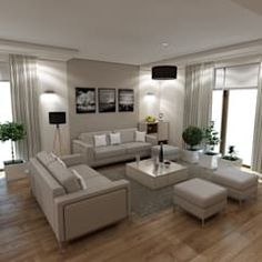Wnętrze domu inspirowane stylem skandynawskim skandynawski salon od marengo architektura wnętrz skandynawski   homify Cute House, Couch, Living Room, Furniture, Design, Home Decor, Arquitetura, Small Apartment Living, Apartments