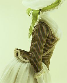 the original antique Striped Pierrot. Many more photos & detailed info on remaking it using a J.P. Ryan Anglaise pattern