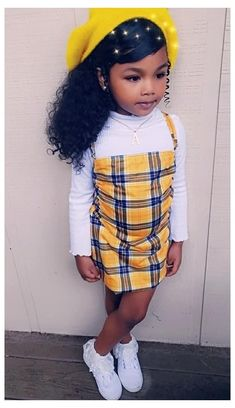 Cute Black Kids, Black Baby Girls, Beautiful Black Babies, Cute Little Girls Outfits, Cute Swag Outfits, Kids Outfits Girls, Little Girl Swag, Black Kids Fashion, Cute Kids Fashion