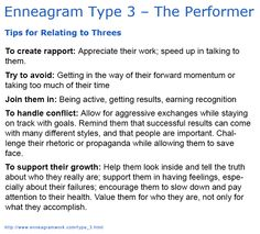 enneagram 3 and 4 relationship tips