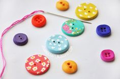 DIY: handmade buttons tutorial