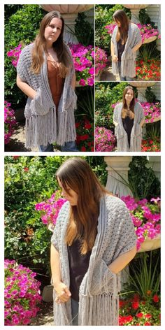 16 Reader's Pocket Wrap Shawl Free Crochet Patterns & Paid - DIY Magazine Hooded Scarf Pattern, Crochet Hooded Scarf, Crochet Scarves, Crochet Clothes, Crochet Throw Pattern, Afghan Crochet Patterns, Crochet Waffle Stitch, Rainbow Crochet, Crochet Shawls And Wraps