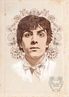 SYD BARRETT Portrait Poster - Original Pencil Drawing - by Rachillustrates, via Etsy.