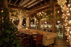 A placed called Cecconis in Miami. I've never been here but what a pretty setting!!