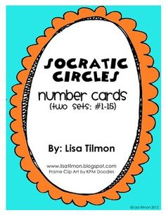 Socratic circles... I've always wanted to try this!! This gives and explanation for using it in reading and for math