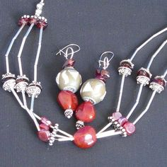 Handmade Jewellery - Set £10.00. A gift idea by Kay Bee Jules found on www.MyOwnCreation.co.uk: A sterling silver based
