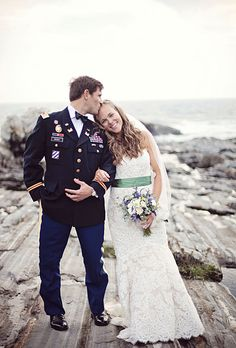 A rustic, military wedding on the coast of Maine (Cuppa Photography)