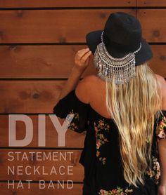 DIY embellished hat. http://blog.swell.com/DIY-Hat-Band
