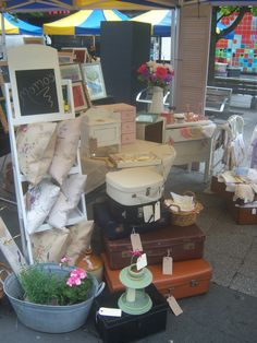 This is my Shabby Chic and vintage stall in Southampton called MOMOs, Hope you love it .XX