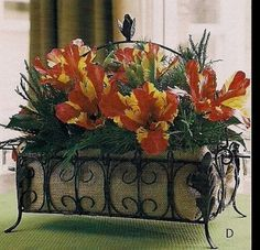 Southern Living at Home Acanthus Table Centerpiece Metal Basket with Votives | eBay