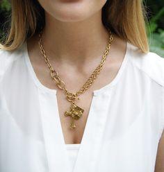 exvoto vintage gold necklace