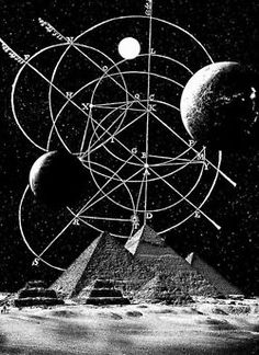Space and pyramids.