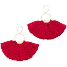 Serefina Tassel Earrings (4,415 INR) ❤ liked on Polyvore featuring jewelry, earrings, hammered earrings, gold plated jewellery, tassle earrings, hammered jewelry and gold plated earrings
