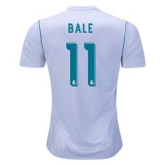 5cf59b7e8 2017 18 Gareth Bale Jersey Number 11 Home Replica Men s Real Madrid Team  Real Madrid