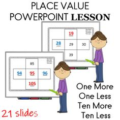 With this math lesson students will be able to identify the number that is one more or ten more than a given number and one less or ten less than a given number by looking for patterns in numbers. The goal is for students to mentally find 10 more or 10 less and 1 more or 1 less than a given number w... First Grade Lessons, Math Lessons, Lessons Learned, Easel Activities, Classroom Activities, Common Core Education, First Grade Parade, Subtraction Strategies, Go Math