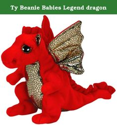 Ty Beanie Babies Legend dragon. Official Ty product with the authentic Ty heart-shaped tag! Extra huggable Part of the Ty Beanie Babies Collection Handmade with the finest quality standards Ty from our heart to yours surface washable Collect them all!.
