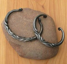 Twisted Iron bracelet by Gerald Boggs