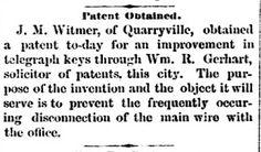 Genealogical Gems: On This Day: Quarryville man obtains patent