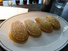 Madeleines with lemon curd at Cumulus Inc in Melbourne #cake
