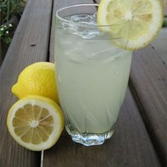 Literally and quite perfectly, the best homemade lemonade ever. It has just the right tartness to its sweetness.