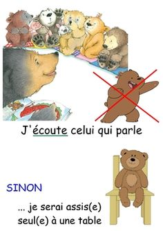 Règles de vie pour mes oursons French Expressions, Back To School, Preschool, Family Guy, Teddy Bear, Hygiene, Fictional Characters, Socialism, Kindergarten Classroom