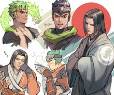Hanzo and Genji Character Design, 3d Artist, Character Art, Shimada Brothers, Overwatch Comic, Animation, Anime, Fan Art, Overwatch Fan Art