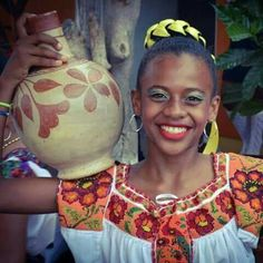 Photo of beautiful young Afro-Mexican woman from Cuajinicuilapa, Guerrero, MEXICO