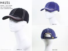 7cb642fc8de H4151 - Solid Color With White Stitches Baseball Cap