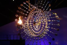 Anthony Howe   The kinetic sculpture behind the Rio 2016 Olympic cauldron is so hypnotic you might not have noticed the flame itself is rather tiny compared to past games.