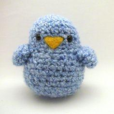 Crochet patrones de juguete grasa Birdy por Mamachee en Etsy
