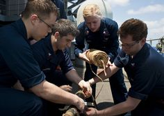 PACIFIC OCEAN (May 2, 2013) Sailors patch a ruptured pipe during a damage control competition aboard the aircraft carrier USS Nimitz (CVN 68). Nimitz is currently on a Western Pacific deployment. (U.S. Navy photo by Mass Communication Specialist 3rd Class Raul Moreno Jr./Released)