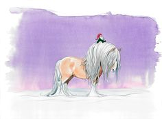 Watercolor painting - #horse