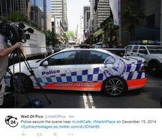 Hostages held in siege in Martin Place. Sydney, Police, Australia, Vehicles, Car, Pictures, Automobile, Photos, Law Enforcement