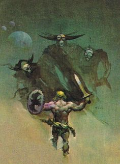 Jeff Jones - art for Quest of the Dark Lady Frank Frazetta, Fantasy Paintings, Fantasy Artwork, Jeff Jones, Medieval, Sword And Sorcery, High Fantasy, Fantasy Illustration, Pulp Art