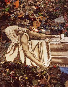 vik muniz- David's Marat interpretation. saw the documentary about this and it was amazing