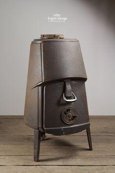 Old Cast Iron No.4 Jotul Combifire Stove
