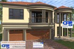 Double Storey House Plans, Flat Roof House, Model House Plan, Site Plans, My Dream Home, Dream Homes, Garage Plans, Cool House Designs, House Floor Plans
