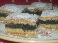 moje záľuby...: Makové rezy so slivkami Cheesecake, Treats, Cooking, Sweet, Poppy, Blog, Anna, Cakes, Decor