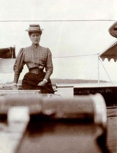 Empress Alexandra on board the Standart - it seems her face was permanently etched with pain and worry