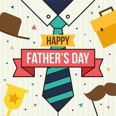 Concepto de día de padres de diseño plan... | Free Vector #Freepik #freevector #amor #diseno #familia #celebracion Daddy Day, Father's Day, Photos For Sale, Happy Fathers Day, Letters, Vector Freepik, Cards, Flat Design, Gifts